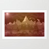 Alien Landscape 1 Art Print