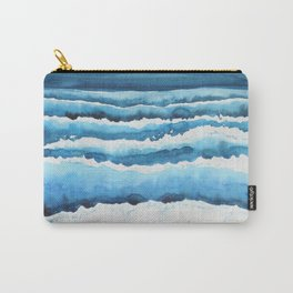 Watercolour waves crashing on the shore Carry-All Pouch