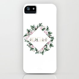 IDGAF pink flowers iPhone Case