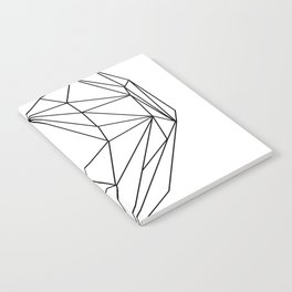 Heart Graphic (black on white) Notebook