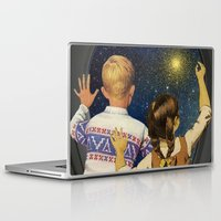 spaceship Laptop & iPad Skins featuring SPACESHIP ORION by Julia Lillard Art