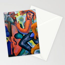 African American Masterpiece 'Pure Joy & Be-Bop in Harlem' portrait painting by René Margotton Stationery Cards