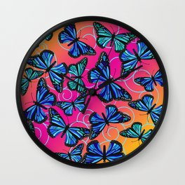 Cool Monarchs at Sunset Wall Clock