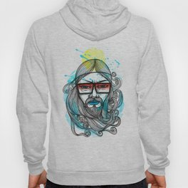 A Man with Shades and Beard Hoody