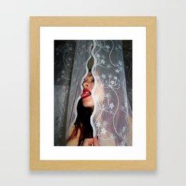 White Abyss Framed Art Print