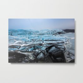 Deep Blue Glacier Metal Print