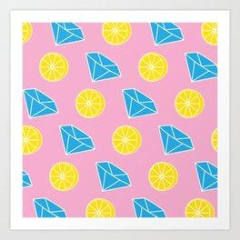 Diamonds and Lemons Art Print