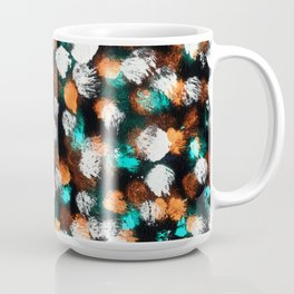 Inverted Messy Dot Pattern Coffee Mug