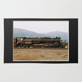 Steam Train Locomotive. Santa Fe 3751. © J. Montague. Rug