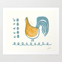 swedish Art Prints featuring Swedish Hen by Chet and Dot
