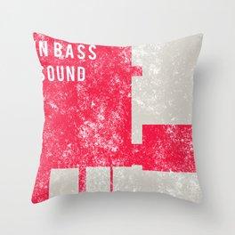 Evolution In Bass Sound Throw Pillow