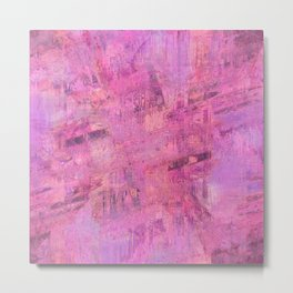 Abstract paint pink Metal Print