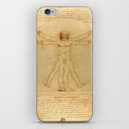 Leonardo da Vinci - Vitruvian Man iPhone Skin