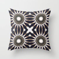 chocolate Throw Pillows featuring Chocolate Flower Mandala Pattern by 2sweet4words Designs