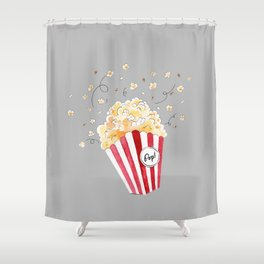 crazy popcorn Shower Curtain