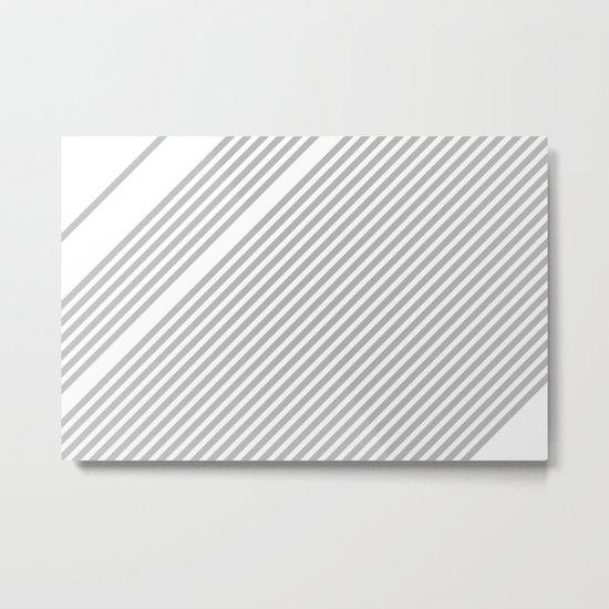 Silver Straws Metal Print