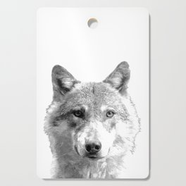 Black and White Wolf Cutting Board