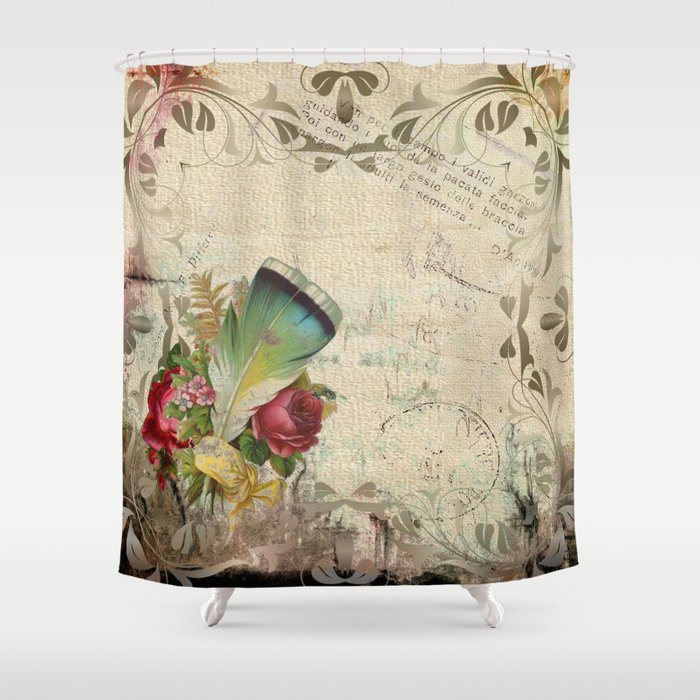 Vintage Boho Chic Shower Curtain By Lauragordon