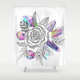 Rose and Crystals Shower Curtain