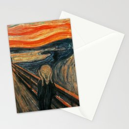 The Scream by Edvard Munch Stationery Cards