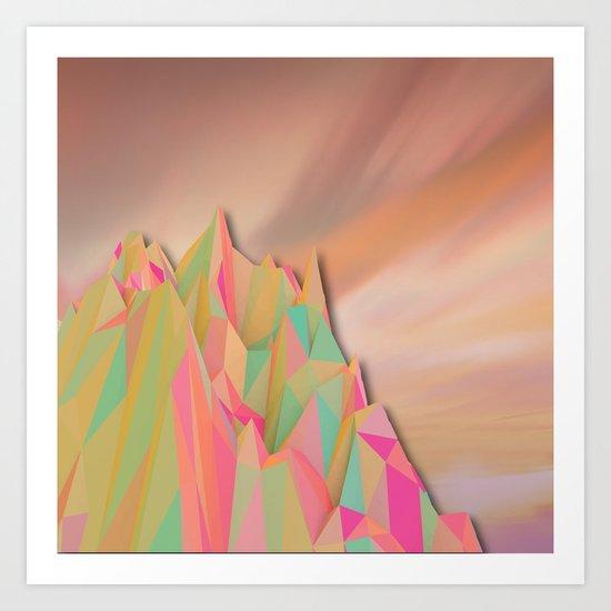 Night Mountains No. 22 Art Print