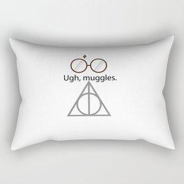 Ugh, muggles. Rectangular Pillow