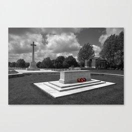 Hooge Cemetery in mono  Canvas Print
