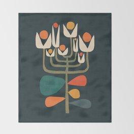 Retro botany Throw Blanket