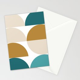modern geo – turquoise, gold, blush Stationery Cards