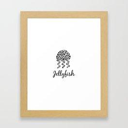 Jellyfish B&W Framed Art Print