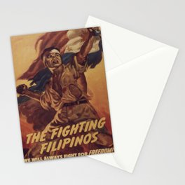 Vintage poster - The Fighting Filipinos Stationery Cards