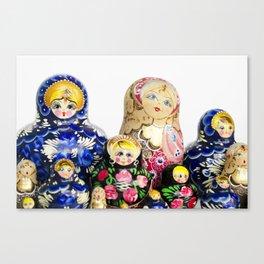 Babushka nesting dolls Canvas Print