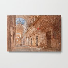 Battered Prison Corridor Metal Print