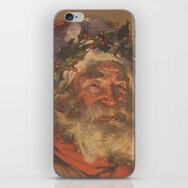 Vintage Santa Claus Illustration (1907) iPhone Skin