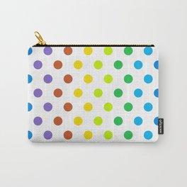 Polka-Dot Rainbow - Modern Abstract Artwork Carry-All Pouch