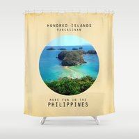 philippines Shower Curtains featuring Hundred Island by mewdew