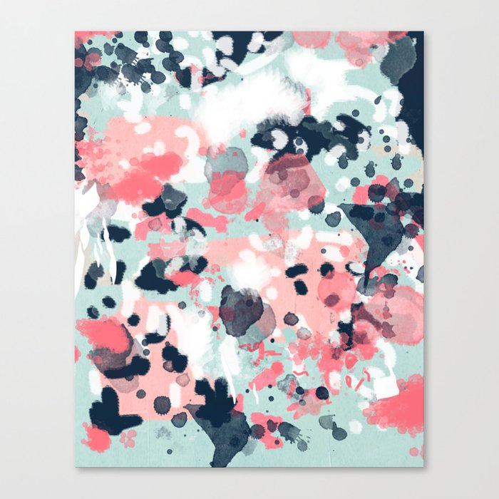 Jilly - modern abstract gender neutral canvas art print large scale abstract painting Canvas Print