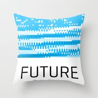 odd future Throw Pillows featuring Future by Blank & Vøid