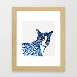 Boots in Blue Framed Art Print