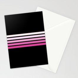 Pink Abstract Minimal Retro Stripes 70s Style - Nobuyasu Stationery Cards