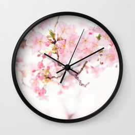 Cherry Blossom Japanese Flowers Photography Wall Clock