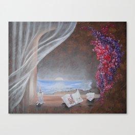WINDOW VIEWS Ocean Flowers Canvas Print