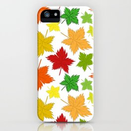 Maple Leaves - Autumn Pattern iPhone Case