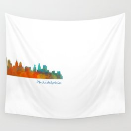 Philadelphia City Skyline Hq V1b Wall Tapestry