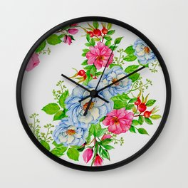 Vintage Floral Pattern No. 7 Wall Clock