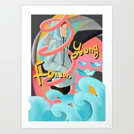 Forever young illustration Art Print