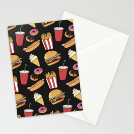 Fast-food (black) Stationery Cards