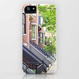 South End Neighborhood Stoops iPhone Case