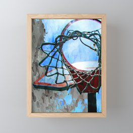 Basketball art spotlight vs 6 Framed Mini Art Print