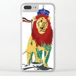 Rasta Lion Clear iPhone Case